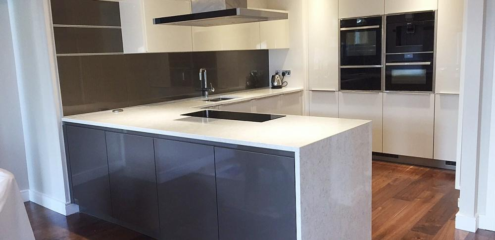 Crystal & Silver Brown G shaped  Kitchen